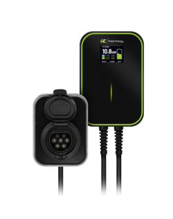 Green Cell EV15RFID, Wallbox GC EV PowerBox 22kW charger with Type 2 socket and RFID for charging electric cars and Plug-In hybr