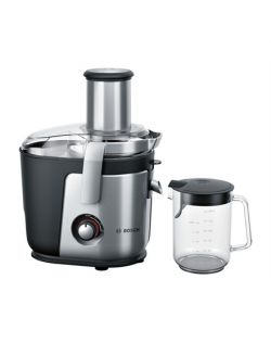 Bosch Juicer MES4010 Type Centrifugal juicer, Black/Silver, 1200 W, Extra large fruit input