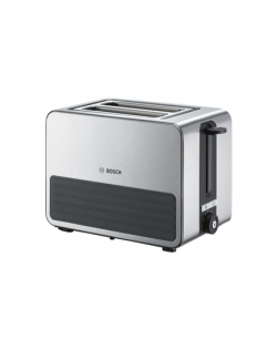 Bosch Toaster TAT7S25 Stainless steel/ black, 1050 W, Number of slots 2, Number of power levels 7, Bun warmer included