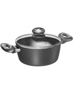 Stoneline Gourmundo cooking pot 17019 5 L, 24 cm, Aluminium, Grey, Lid included