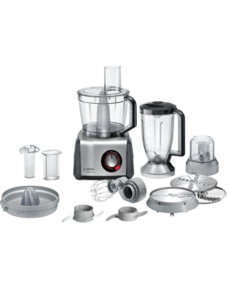 Bosch Food Processor MultiTalent 8 MC812M844 Black, 1250 W, Number of speeds Equal speed setting, instant and pulse functions, 3