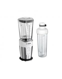 Bosch VitaStyle MixxGo Blender MMBM7G2M Tabletop, 350 W, Jar material Glass, Jar capacity 0.6 L, Ice crushing, White/Sainless st