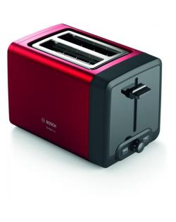 Bosch TAT4P424 DesignLine Toaster, 970 W, 2 slots, Red Bosch DesignLine Toaster TAT4P424 Power 970 W, Number of slots 2, Housing