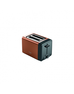 Bosch DesignLine Toaster TAT4P429 Power 970 W, Number of slots 2, Housing material Stainless Steel, Copper/Black