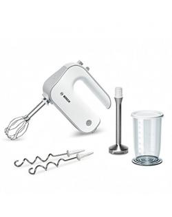 Bosch Mixer Styline MFQ4070 Hand Mixer, 500 W, Number of speeds 5, Turbo mode, White