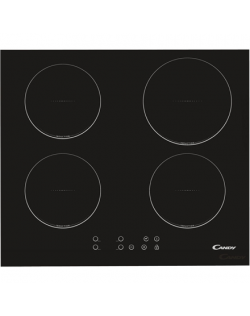 Candy Hob CI640C Induction, Number of burners/cooking zones 4, Black, Display, Timer
