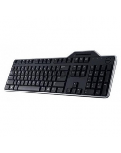 Dell KB-813 Keyboard layout Qwerty, Black, with smart card reader, Russsian
