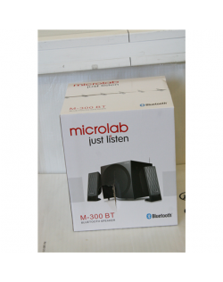 SALE OUT. Microlab M-300BT 2.1 Speakers / 38W RMS (2x12W+14W) / Black, DAMAGED PACKAGING Microlab M 300BT Speaker type 2.1, 3.5m