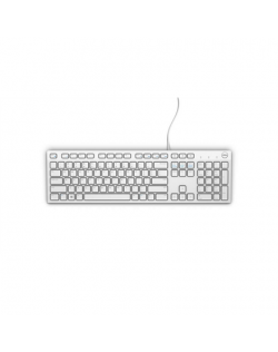 Dell KB216 Multimedia, Wired, Keyboard layout EN, USB, White, English,