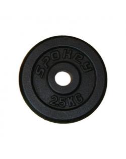 Spokey SINIS Cast iron loads, Hole diameter: 2.9 cm, for bars with a diameter of 2.8 cm, 2.5 kg, Black
