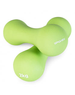 Spokey BONE Neoprene Dumbbell Set, x2 pieces, 2 kg, Light Green