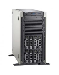 Dell PowerEdge T340 Tower, Intel Xeon, E-2234, 3.6 GHz, 8 MB, 8T, 4C, 1x8 GB, UDIMM DDR4, 2666 MHz, SSD 480GB GB, SATA Gbit/s, U