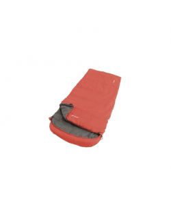 Outwell Campion Lux, Sleeping Bag, 225 x 85 cm, 2 way open - auto lock, L-shape, Red