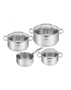 TEFAL Duetto+ Stewpots set, 7 pcs G719S734 16/ 20/ 24 cm, Stainless steel, Dishwasher proof, Lid included