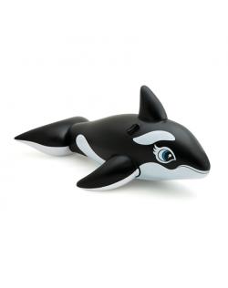 Intex Lil' Whale Ride On Swimming Board Black/White