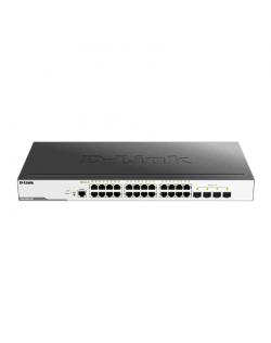 D-Link Switch DGS-3000-28L Managed L2, Rack mountable, 1 Gbps (RJ-45) ports quantity 24, SFP ports quantity 4, Power supply type