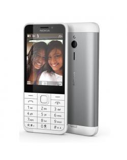 """Nokia 230 Silver, 2.8 """", TFT, 240 x 320 pixels, 16 MB, Dual SIM, Mini-SIM, Bluetooth, 3.0, USB version microUSB 1.1, Built-in ca"""