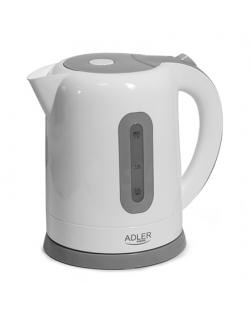 Adler Kettles AD 1234 Standard kettle, Plastic, White, 2200 W, 1.7 L, 360° rotational base