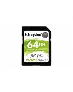 Kingston Canvas Select UHS-I 64 GB, SDXC, Flash memory class 10