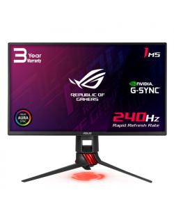 "Asus ROG Strix Gaming LCD XG258Q 24.5 "", TN, FHD, 1920 x 1080 pixels, 16:9, 1 ms, 400 cd/m², Dark gray, Red, Native 240Hz, Adapt"