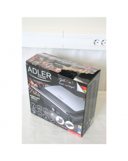 SALE OUT. Adler Electric Grill XL AD 3051 Table, 2800 W, Black/Stainless steel, DAMAGED PACKAGING, SMALL SCRATCHES ON GLOSSY SURFACE