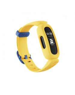Fitbit Ace 3 Fitness tracker, PMOLED, Heart rate monitor, Waterproof, Bluetooth, Black/Minions Yellow