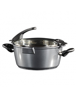 Stoneline Future Cooking pot 14275 6,9 L, 28 cm, Die-cast aluminium, Grey, Lid included