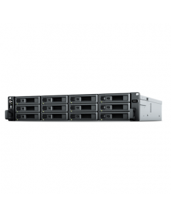 Synology Rack NAS RS2421+ Up to 12 HDD/SSD Hot-Swap, Ryzen V1500B Quad Core, Processor frequency 2.2 GHz, 4 GB, DDR4, RAID Basic