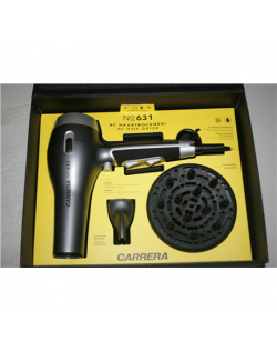 SALE OUT. Carrera 631 Hairdryer with AC Motor 2.400 W, Silver/Black Carrera 631 Hair Dryer 2400 W, Number of temperature setting