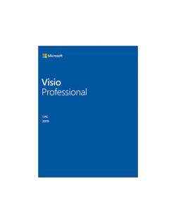 Microsoft D87-07425 Visio Pro 2019 ESD, Multilingual