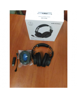 SALE OUT. Audio Technica ATH-G1WL Gaming Headset, Over-Ear, Wireless, Microphone, Black/Blue Audio Technica USED REFURBISHED WIT