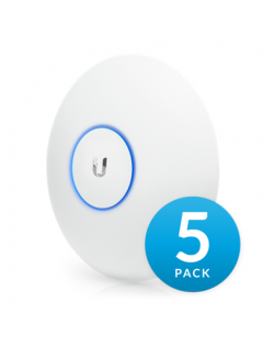 Ubiquiti UniFi UAP-AC-LR-5 (5-Pack) 2.4 - 5, 867 Mbit/s, 10/100/1000 Mbit/s, MU-MiMO Yes, PoE in, 802.11 a/b/g/n/ac, (PoE inject