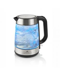 ETA ETA615390000 Standard kettle, Glass, Stainless steel/Black, 2200 W, 360° rotational base, 1.7 L