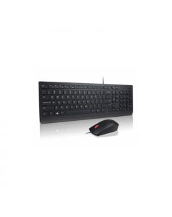 Lenovo 4X30L79928 Keyboard and Mouse Combo - Estonia, Wired, Keyboard layout Estonian, USB, Black, Numeric keypad