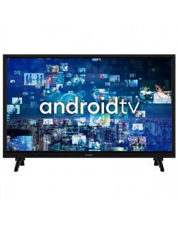"GoGen HD ready TV GOGTVH24J536GWEB 24"" (60 cm), Smart TV, Android, HD Ready, 1366 × 768, Wi-Fi, DVB-C/S2/T/T2, Black"