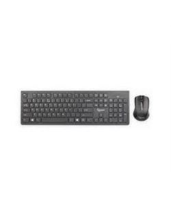 Gembird KBS-WCH-01 Wireless, Black, Mouse included, US English, Numeric keypad, 522 g