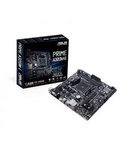 Asus PRIME A320M-E Processor family AMD, Processor socket AM4, DDR4-SDRAM 2133,2400,2666,2933,3200 MHz, Memory slots 2, Supporte