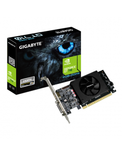 Gigabyte Low Profile NVIDIA, 2 GB, GeForce GT 710, GDDR5, PCI Express 2.0, Cooling type Active, Processor frequency 954 MHz, HDM