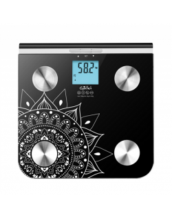 Gallet Personal scale GALPEP712 Maximum weight (capacity) 150 kg, Accuracy 100 g, Memory function, 10 user(s), Black with motive