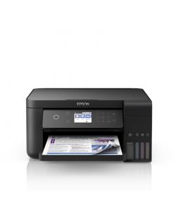 Epson All-in-One Ink Tank Printer L6160 Colour, Inkjet, Cartridge-free printing, A4, Wi-Fi, Black