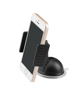 Acme PM2204 Black, Adjustable, 360 °, Clamp dash smartphone car mount, Installation: windshield/dashboard, Mount dimensions: 90