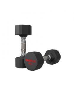 PROIRON PRKRD08K Rubber Dumbbell, 16 kg, 2 pcs, 8 kg, Black