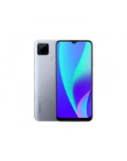 "Realme C15 Silver, 6.5 "", IPS LCD, 720 x 1600, MediaTek Helio G35, Internal RAM 3 GB, 64 GB, MicroSDXC, Dual SIM, Nano-SIM, 3G,"
