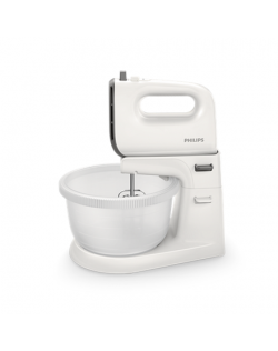 Philips Viva Collection Mixer HR3745/00 Mixer with bowl, 450 W, Number of speeds 5, Shaft material Stainless steel, White