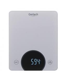 Gerlach Kitchen scales GL 3172s Maximum weight (capacity) 10 kg, Graduation 1 g, Display type LED, Grey