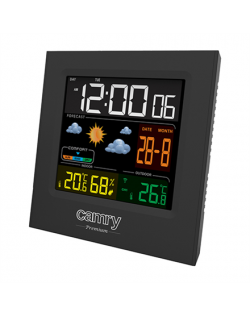 Camry Weather station CR 1166 Black, Date display