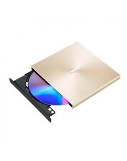 Asus ZenDrive U9M Interface USB 2.0, DVD±RW, CD read speed 24 x, CD write speed 24 x, Gold