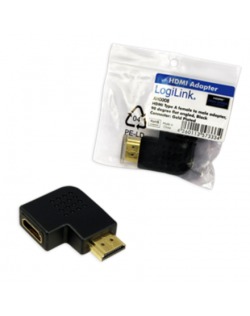 HDMI Adapter, AM to AF in 90 degree flat angled Logilink
