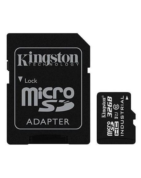 Kingston Industrial Temperature UHS-I U1 32 GB, MicroSDHC, Flash memory class 10, SD Adapter