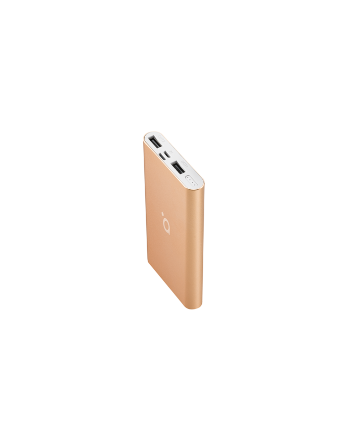 Acme Power bank PB15GD 10000 mAh, Gold, 2 USB ports, Aluminium, Li-polymer